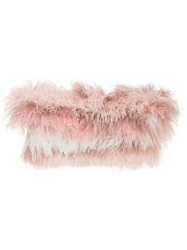 Isabel Sanchis tonal ostrich feather shrug - Pink