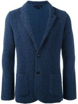 Lardini tweed blazer - Blue