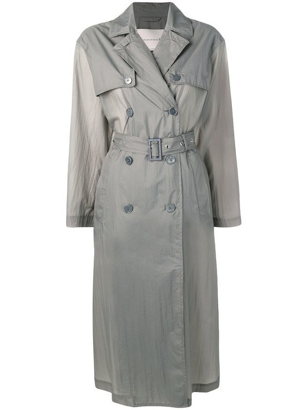 Mackintosh Slate Nylon Oversized Trench Coat LM-099B - Grey