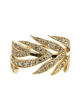 Marc Alary diamond leaf ring - Metallic