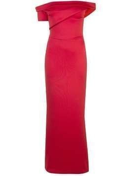 Black Halo Molten bardot gown - Red