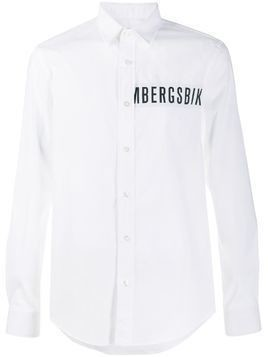 Dirk Bikkembergs cut-out logo detail shirt - White