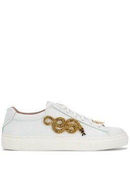 Escada embellished snake trainers - White
