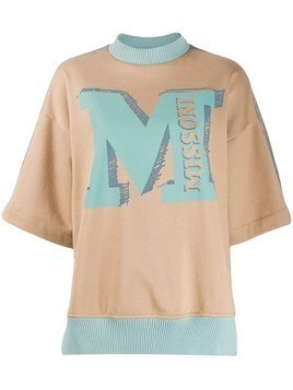 M Missoni M logo jumper - Brown