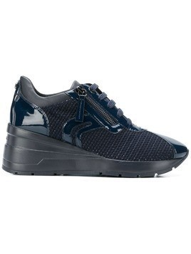 Geox woven lace-up sneakers - Blue