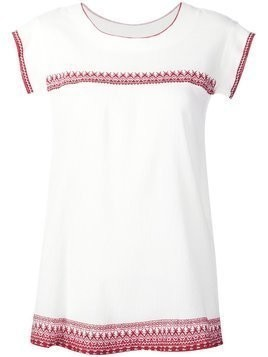 The Great embroidered top - White