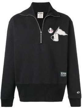 Champion X Wood Wood half-zip sweatshirt - Black