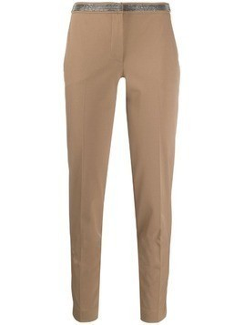Fabiana Filippi cropped skinny-fit trousers - Brown