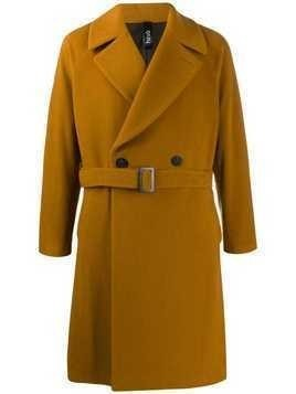 Hevo double breasted coat - Yellow
