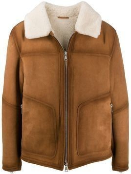Drome shearling lined suede jacket - Brown
