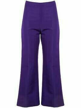 Christian Siriano flared cropped trousers - Purple
