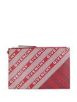 Givenchy all over logo print clutch - Red