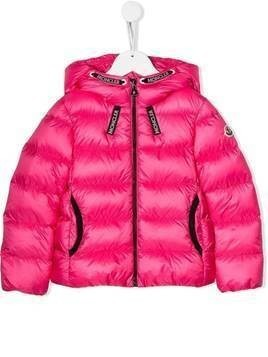 Moncler Kids zipped padded jacket - Pink