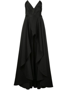 Jay Godfrey pointed bustier gown - Black