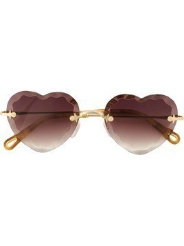 Chloé Eyewear heart-shape sunglasses - Gold