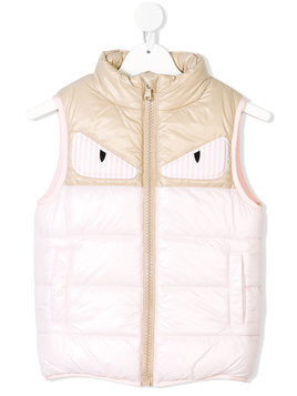 Fendi Kids monster eye gilet - Pink & Purple