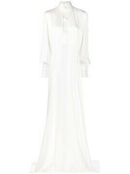Christopher Kane pearl dome satin gown - White