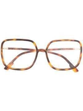 Dior Eyewear So Stellaire 1 oversized glasses - Brown