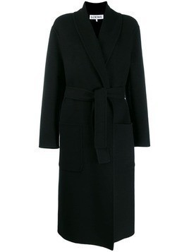 Loewe oversized belted coat - Black