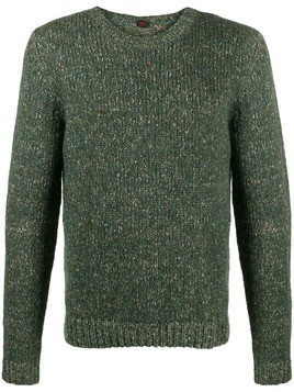 MP Massimo Piombo melange crew-neck jumper - Green