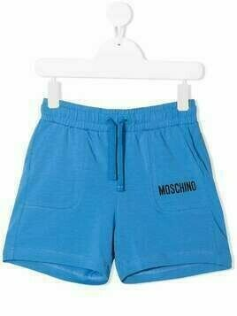 Moschino Kids jersey shorts - Blue
