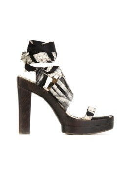 Hermès Vintage digital print sandals - Black