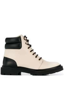 Bally Ganya lace-up boots - White