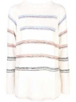 Apiece Apart striped knitted jumper - White