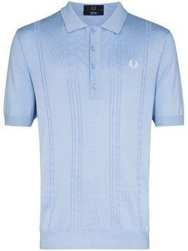 Fred Perry embroidered logo knit polo shirt - Blue
