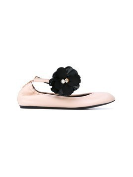 Lanvin floral pin ballerina shoes - Pink&Purple