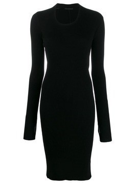Helmut Lang fitted ribbed knit dress - Black