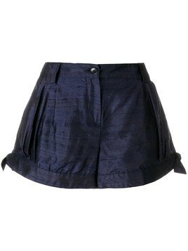 Giorgio Armani Pre-Owned side ties shorts - Blue