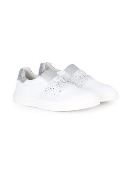 Cesare Paciotti 4Us Kids embellished slip-on sneakers - White