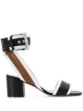 Pollini open toe buckle sandals - Black