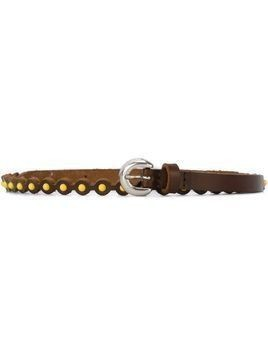 Orciani studded belt - Brown