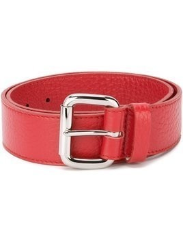 Orciani square buckle belt - Red