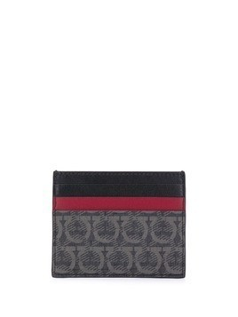 Salvatore Ferragamo Gancini colour-block cardholder - Black
