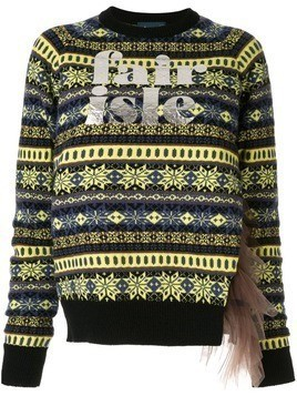 Kolor logo print knit sweater - Blue