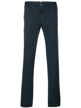 Incotex - welt pocket trousers - Herren - Cotton/Linen/Flax/Spandex/Elastane - 34 - Blue