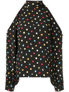Anna October dotted blouse - Black