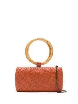 Serpui straw clutch - ORANGE