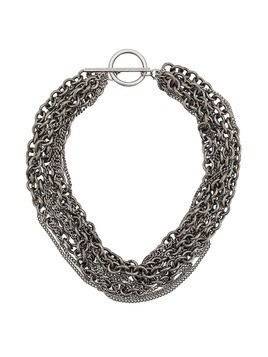 Ann Demeulemeester multichain necklace - Silver
