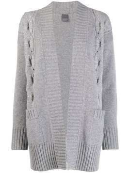 Lorena Antoniazzi short knitted cardigan - Grey