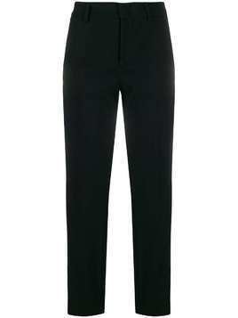 Red Valentino side stripes cropped trousers - Black