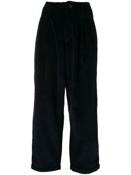 YMC corduroy wide leg trousers - Blue