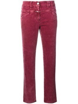 Closed slim fit trousers - Pink