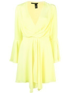 Jay Godfrey draped V-neck dress - Yellow