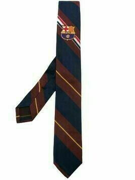Thom Browne FCB Engineered RWB Crest Tie - Blue