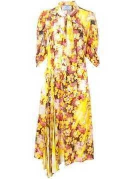 421758fcb461e Prada floral print midi dress - Yellow