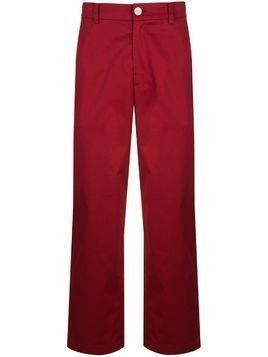 Iise straight-leg trousers - Red